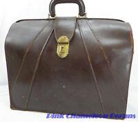 Mid-Century Bosca Old Leather Lawyer Executive Briefcase Doctors Bag HUGO BOSCA
