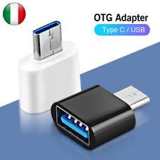 Adattatore OTG da Type C Tipo C maschio a USB 3.0 femmina Smartphone Tablet