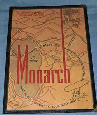 1947 Vintage Monarch Restaurant Menu, Reno, NV - C-3342