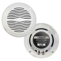 """Magnadyne WR40W 5"""" Waterproof Marine Hot Tub Dual Cone Audio Speakers - Pair"""