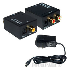 Digital Optical Toslink or SPDIF Coax to Analog L/R RCA Audio Converter Adapter