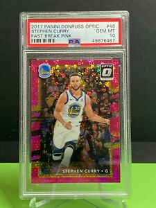 2017 Donruss OPTIC #46 Stephen Curry Fast Break PINK /20 PSA 10 POP 1!!! 1/1