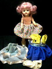 """Purple Hair """"KIM"""", Plus 4 Boxes of Outfits, 8"""", Jointed, Plastic, Stand"""