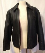 Georgetown Black Pebbled  Leather  Moto Jacket Womens Size Med