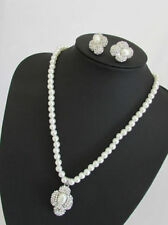 Pearl Crystal Mixed Metals Costume Necklaces & Pendants