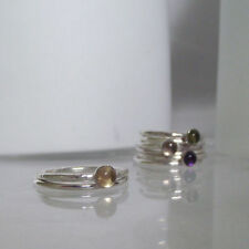 Citrine Solitaire Not Enhanced Sterling Silver Fine Rings