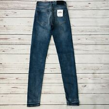 Levis Made And Crafted Silver High Skinny Jeans Womens 24x30 Stretch New
