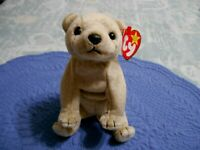 TY Beanie Baby ALMOND Bear 1999 Great Condition!