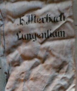 Antiken Mehl - oder Getreidesack, Leinen E. Merbach Langenhain (Thüringen)