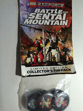 "LEGO Exoforce ""Battle for Sental Mountain""Limited Edition Collectror's Pin Pack"