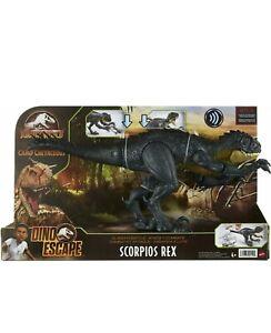 JURASSIC WORLD Camp Cretaceous Dino Escape Slash 'N Battle Scorpios Rex IN HAND!