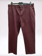 """Men's M&S Trousers In Burgundy 40"""" Waist Short Length 29"""" Length"""