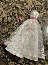 OoP Barbie formal rose pink satin ball gown outfit dress shoes clothes fashion
