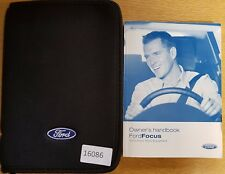 FORD FOCUS  HANDBOOK OWNERS MANUAL WALLET AUDIO GUIDE 2004-2007 PACK 16086
