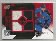 2008-09 Black Diamond Hockey Mark Recchi Quad Jersey Ruby Parallel Card # 11/100