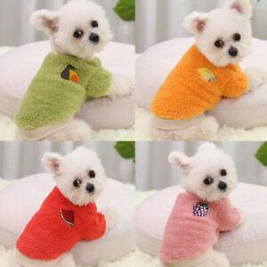 Pet Fleece Clothes Puppy Dog Warm Jumper Sweater Coat Small Yorkie Chihuahua Cat