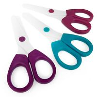 Westcott Children's Kid's Blunt Round Nylon Plastic Safety Scissors - Set of 3