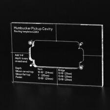 Musiclily Pro CNC Acrylic Humbucker Pickup Electric Guitar Body Routing Template