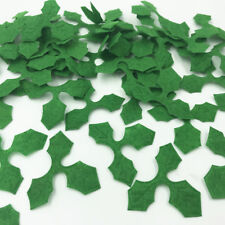 100pcs Green Holly leaves Felt Appliques DIY Sewing Christmas Decoration 46mm