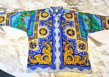 1995 vintage GIANNI VERSACE silk shirt Barocco & Emperor print size ITA 52