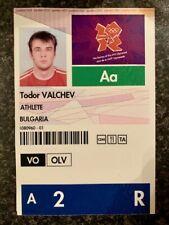 LONDON 2012 OLYMPIC GENUINE ATHLETE IDENTITY & ACCREDITATION CARD PASS *RARE*