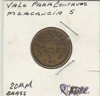 LAM(Y) Token - Vale Para Centavos - Mercancia 5 - 20 MM Brass