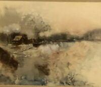 Jan Dorer Watercolor Painting Framed Signed Original Mid Century Art Beautiful