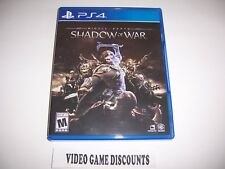 Original Box Case Replacement Sony PlayStation 4 PS4 MIDDLE EARTH SHADOW OF WAR