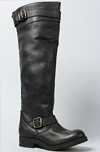 Jeffrey Campbell Women's The Wishlist II KNee High Leather Ricing Moto Boots