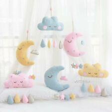 Kawaii Moon Cloud Plush Pillow Hanging Soft Cushion Decoration Bed Curtain Room