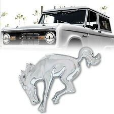Chrome Plated Detailed Bucking Bronco Horse Emblem For 1966-1977 Ford Bronco