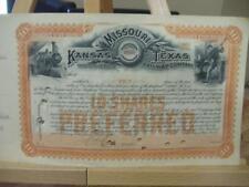 New listing Missouri, Kansas & Texas Railway Company ~ 10 Shares Prefered