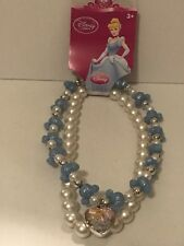 Disney Store Cinderella Hidden Mickey Carriage Pearl Necklace Pendant Jewelry