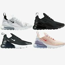 Nike Air Max 270 New Womens Athletic Running Shoes White Black Pink 6-10
