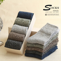 5 Pack New Mens 25% Wool Cotton Thick Casual Sports Warm Winter Socks 6-10