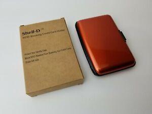Shell-D RFID Blocking Aluminum Credit Card Holder/Wallet (7 Slots) Burnt Orange