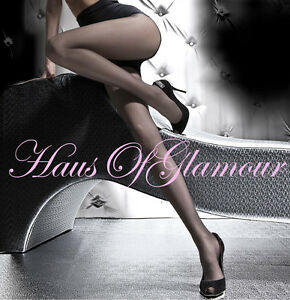 Glossy Luxury Sheer-to-Waist Tights-Elegant Smoky Grey and Other Colours Too