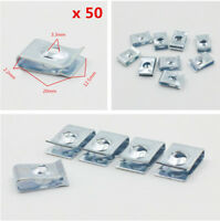 50Pcs Metal U-Type RIvets Door Panel Fastener Clips for Car Vehicle 3.3mm