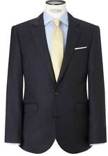 NEW JOHN LEWIS PURE WOOL PINSTRIPE TAILORED FIT SUIT JACKET 38 L NAVY