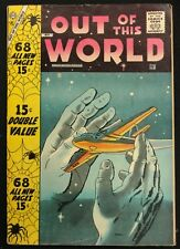 OUT OF THIS WORLD #8 SWEET FN-- CHARLTON,68 PAGE GIANT 1958 2 DITKO STORIES
