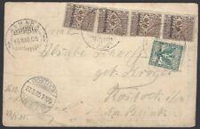 Eritrea 1905 postcard to Germany