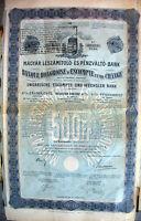 Ungarische Escompte und Wechsler Bank Budapest Anleih 1911 - Ungarn Magyarország