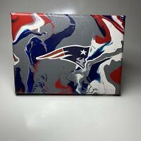 New England Patriots Logo Stencil Painting 12 X 12 Canvas Ebay