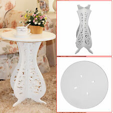 Hot sale White Round Coffee Tea Table Side End Table Rack Stand Home Furniture
