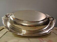 Vintage WILCOX INTERNATIONAL SILVER Covered Casserole Dish #7112-FLORAL DESIGN