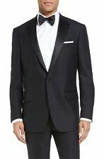 $950 Hart Schaffner Marx Men'S Classic Wool Black Tuxedo Suit Jacket Blazer 44r