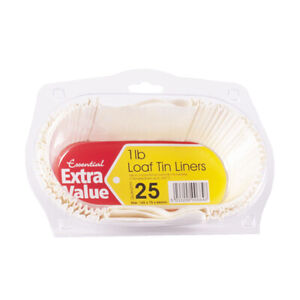 25 1lb Durable Loaf Tin Liners | High-Quality Traditional Grease-Proof Liners