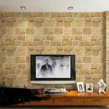10M 3D Rustic Stone Slate Looking Realistic Impressions Embossed Wallpaper