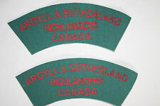 CANADA CANADIAN WW2 STYLE PRINTED TITLE PAIR ARGYLL & SUTHERLAND HIGHLANDERS