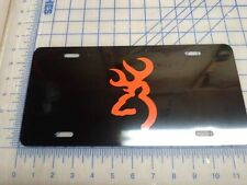 Browning license plate tag (black and orange)